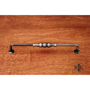 Distressed Nickel Beaded Middle Vertical Pull
