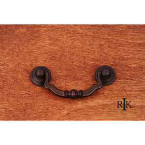 Oil Rubbed Bronze Sculptured Beaded Bail Pull