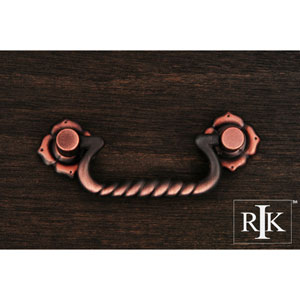 Distressed Copper Rope Bail Pull with Clover Ends