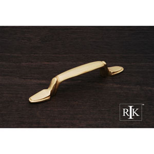 Polished Brass Lined Flat Foot Bow Pull