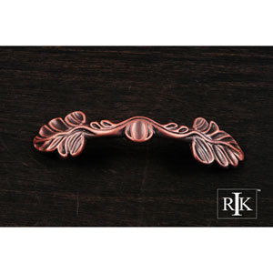 Distressed Copper Two Leaf Pull