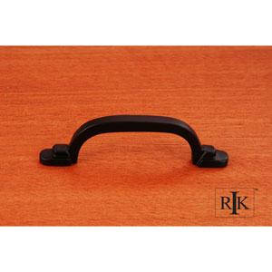 Black Two Step Foot Rectangular Pull