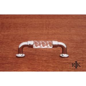 Chrome Bow Acrylic Pull