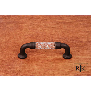 Oil Rubbed Bronze Bow Acrylic Pull