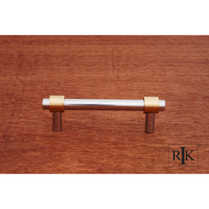 Chrome and Brass Plain Rod Pull
