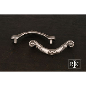Pewter Ornate Curved Drop Pull