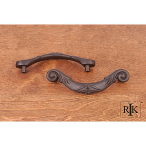 Oil Rubbed Bronze Ornate Curved Drop Pull