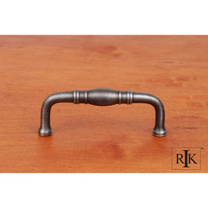 Distressed Nickel Barrel Middle Pull