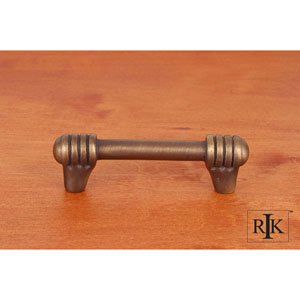 Antique English Distressed Rod with Swirl Ends Pull