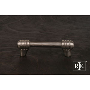 Pewter Distressed Rod with Swirl Ends Pull