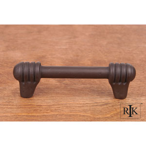 Oil Rubbed Bronze Distressed Rod with Swirl Ends Pull