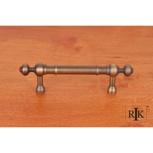 Antique English Plain Pull with Decorative Ends