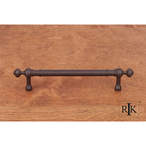 Oil Rubbed Bronze Plain Pull with Decorative Ends