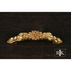 Polished Brass Flower Pull