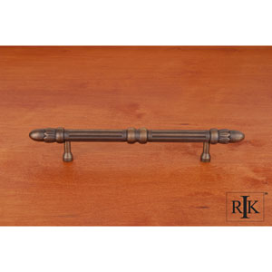 Antique English Lined Rod Pull with Petals at End