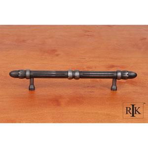Distressed Nickel Lined Rod Pull with Petals at End