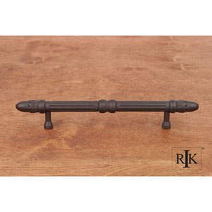 Oil Rubbed Bronze Lined Rod Pull with Petals at End