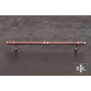 Distressed Copper Lined Rod Pull with Petals at End