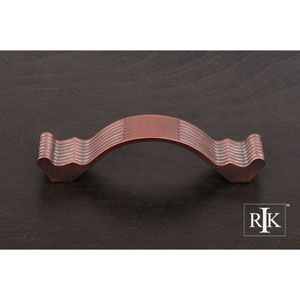 Distressed Copper Wavy Contoured Pull with Lines