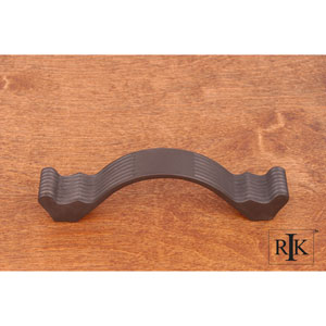 Oil Rubbed Bronze Wavy Contoured Pull with Lines