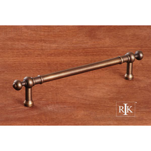 Antique English Plain Door Pull with Decorative Ends