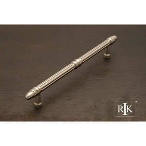 Pewter Lined Rod Door Pull with Petals at End