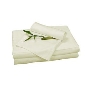 Ivory Rayon from Bamboo Twin Sheet Set