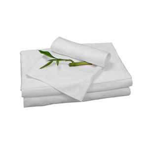 White Rayon from Bamboo Twin Sheet Set