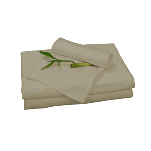 Champagne Rayon from Bamboo Twin Sheet Set