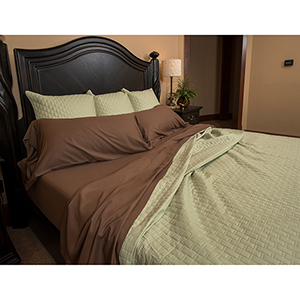 Mocha Rayon from Bamboo Twin Sheet Set