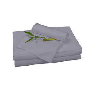 Platinum Rayon from Bamboo Twin Sheet Set