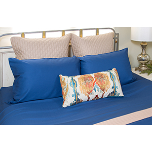 Indigo Rayon from Bamboo Four-Piece King Sheet Set