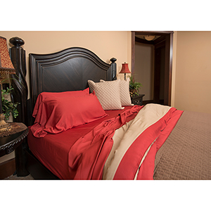 Cayenne Rayon from Bamboo Cal King Sheet Set