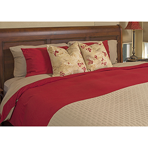 Champagne and Cayenne Rayon from Bamboo Reversible Twin Duvet Cover