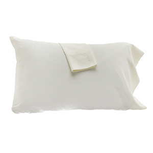 Ivory Rayon from Bamboo Full/Standard Pillowcase Set
