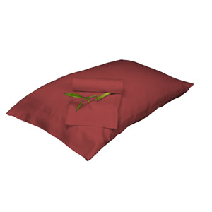 Cayenne Rayon from Bamboo Full/Standard Pillowcase Set
