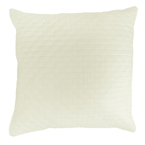 Ivory Rayon from Bamboo Quilted Euro Sham