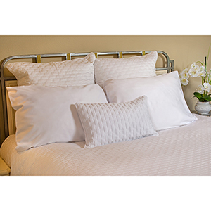 White Rayon from Bamboo Quilted Euro Sham
