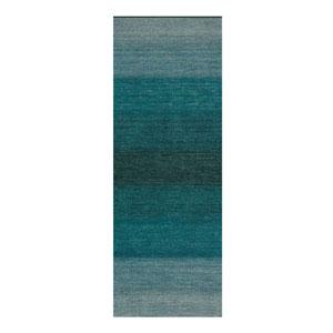 Linear Glow Watercolor Aqua Runner: 2 Ft. 3 In. x 7 Ft. 6 In. Rug