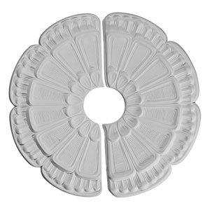 Flower Ceiling Medallion, Two Piece