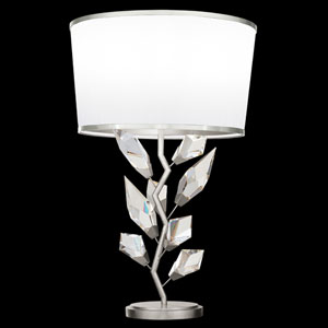 Foret Silver White One-Light Table Lamp