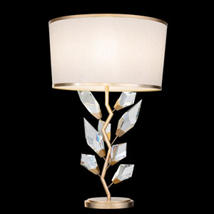 Foret Gold White One-Light Table Lamp