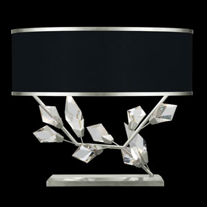 Foret Silver Black Two-Light Table Lamp