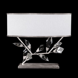 Foret Silver White Two-Light Table Lamp