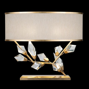 Foret Gold White Two-Light Table Lamp