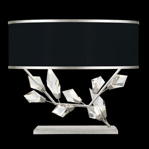 Foret Silver Black 25-Inch Two-Light Table Lamp