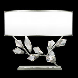 Foret Silver White 25-Inch Two-Light Table Lamp