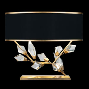 Foret Gold Black 25-Inch Two-Light Table Lamp
