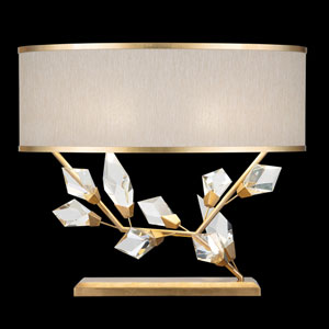 Foret Gold White 25-Inch Two-Light Table Lamp