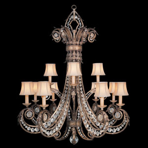 A Midsummers Nights Dream 12-Light Chandelier in Cool Moonlit Patina Finish